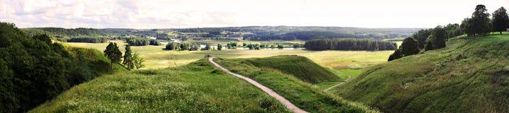 Kernave - capitale storico lituano, sito del patrimonio mondiale dell'Unesco fotografia stock