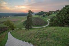 Kernave, dziejowa stolica Lithuania Zdjęcia Royalty Free