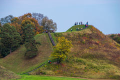 Kernave hills. Fall autumn time Royalty Free Stock Image