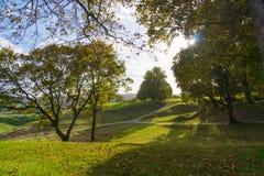 Kernave krajobraz przy latem Zdjęcia Royalty Free
