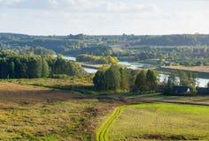 Kernave-Landschaft am Sommer Lizenzfreie Stockfotografie
