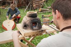 International Festival Days of Life Archaeology in Kernave. Kernave, Lithuania - July 6, 2007: International Festival Days of Life Archaeology in Kernave. There Royalty Free Stock Photo
