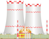 Kerncentrale. Royalty-vrije Stock Afbeelding
