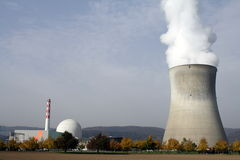 Kerncentrale in Leibstadt, CH Stock Afbeelding