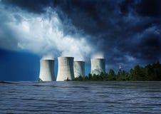 Kerncentraleoverstroming Royalty-vrije Stock Foto's