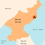 Kerncrisis de Noord- van Korea Vector Illustratie