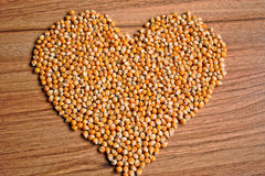Kernel Heart Stock Photo