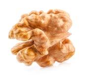 Kernel walnut. Isolated on white background royalty free stock photo