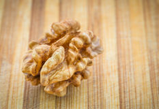 Kernel walnut. Stock Photos