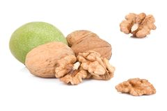 Kernel of walnuts Royalty Free Stock Images