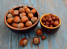 Kernels of hazelnuts Royalty Free Stock Images