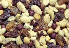 Kernels. Mix of fruits and kernels Stock Photo