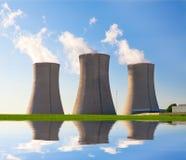 Kernenergieinstallatie Dukovany in Tsjechische Republiek Europa Stock Afbeeldingen