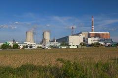 Kernenergieinstallatie Dukovany in Tsjechische Republiek Europa Royalty-vrije Stock Foto