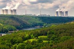 Kernenergieinstallatie Dukovany in Tsjechische Republiek Europa Stock Foto