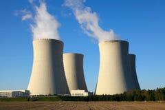 Kernenergieinstallatie Temelin in Tsjechische Republiek Europa Stock Foto's
