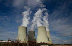 Kernenergieinstallatie Temelin in Tsjechische Republiek Europa Royalty-vrije Stock Foto's