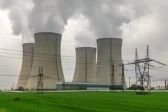 Kernenergieinstallatie Temelin in Tsjechische Republiek Europa Royalty-vrije Stock Foto