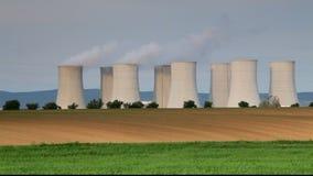 Kernenergieinstallatie - tijdtijdspanne Royalty-vrije Stock Foto's
