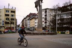 Kerner kwadrat Stuttgart Zdjęcie Royalty Free