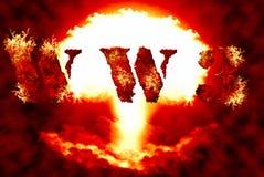 Kernhintergrund des Weltkriegs 3 Stockfoto