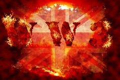 Kernhintergrund des Weltkriegs 3 Stockbilder