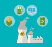Kernkraft alternative resouces Energie lizenzfreie abbildung