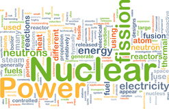 Kernkrafthintergrundkonzept Lizenzfreie Stockfotografie