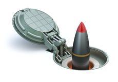 Kernraket in ondergrondse silo Royalty-vrije Stock Foto's