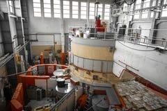Kernreactor in een wetenschapsinstituut Royalty-vrije Stock Foto's