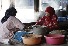 Keropok die in Terengganu maakt Royalty-vrije Stock Fotografie