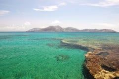 Keros-Insel wiew von Koufonissia stockfotografie