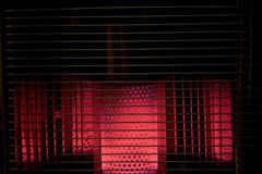 Kerosene heater. Burning brightly stock images