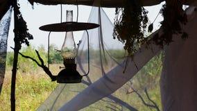 Kerosene lamp stock footage