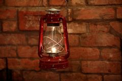 Kerosene  lamp Stock Images
