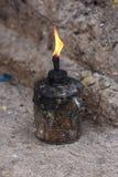 Kerosene lamp. Stock Photo