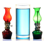 Kerosene oil and lamps Stock Images