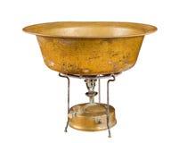 Kerosene stove and copper basin Royalty Free Stock Images