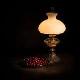 kerosenelampa som används tillfälligt fortfarande Royaltyfria Foton