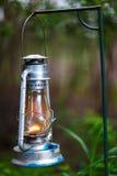 kerosenelampa som används tillfälligt fortfarande Arkivfoto