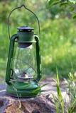 kerosenelampa som används tillfälligt fortfarande Royaltyfri Foto