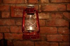 kerosenelampa som används tillfälligt fortfarande Arkivbilder