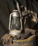 kerosine lampa Obraz Royalty Free