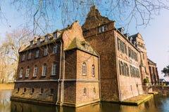 Castle Bergerhausen in Kerpen, Rhein-Erft-Kreis, Germany. Kerpen, Germany - March 01, 2018: Castle Bergerhausen in Kerpen, Rhein-Erft-Kreis. It`s a water castle Stock Image
