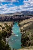 Kerr Dam, Seli'Š¡ Ksanka Qlispe' fördämning och den flathead floden Royaltyfri Bild