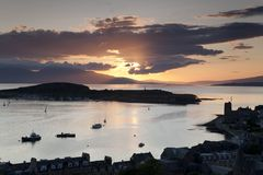 Kerrera Island and the Isle of Mull from Oban Royalty Free Stock Image