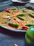 Kerrie - Spaanse pepers en Linzen Stock Foto's