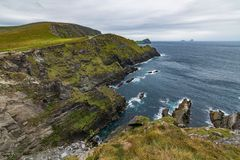 The Kerry Cliffs in the southwest of Ireland. royalty free stock photography