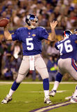 Kerry Collins in Super Bowl XXXV. New York Giants QB Kerry Collins, #5.  (Image taken from color slide Royalty Free Stock Photography