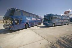 Kerry-/Edwards aktionbussar Royaltyfria Foton